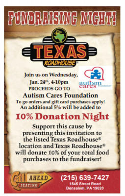 Fundraiser at Texas Roadhouse! @ Texas Roadhouse | Bensalem | Pennsylvania | United States