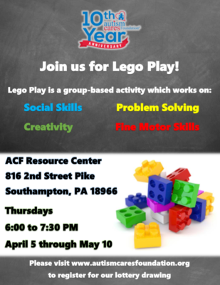 Spring Lego Play! @ Autism Cares Foundation Resources Center | Southampton | Pennsylvania | United States