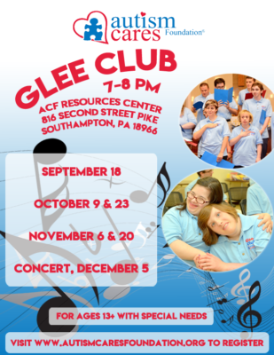 Fall/Winter Glee Club @ Autism Cares Foundation-Resources Center | Southampton | Pennsylvania | United States
