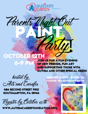 Parents Night Out Paint Party! @ Arts & Carafes | Southampton | Pennsylvania | United States