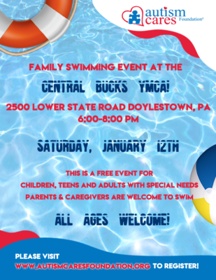 Family Swimming Event @ Central Bucks YMCA
