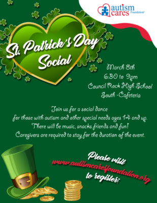 ACF St. Patrick's Day Social! @ Council Rock High School South - Cafeteria