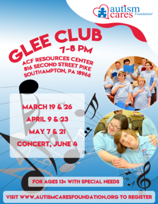 Spring Glee Club @ Autism Cares Foundation Resources Center