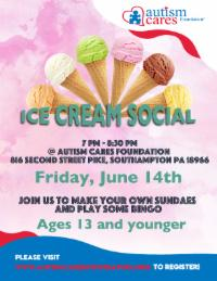 WAIT LIST - Ice Cream Social and Bingo @ Autism Cares Foundation