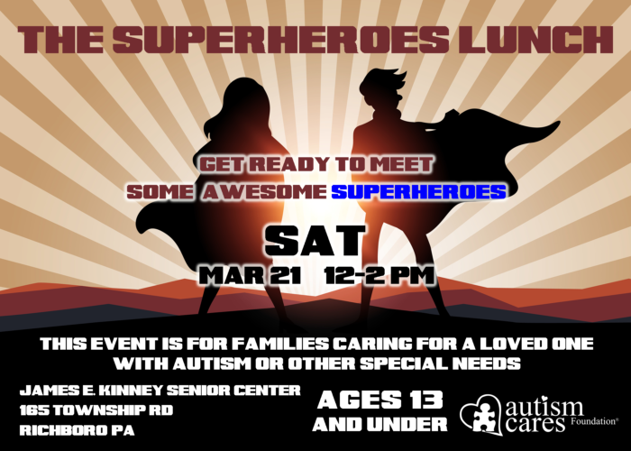 The Superheroes Lunch @ James E. Kinney Senior Center