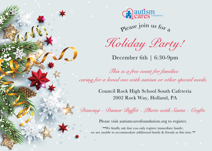 The ACF Holiday Party @ Council Rock High School South-Cafeteria