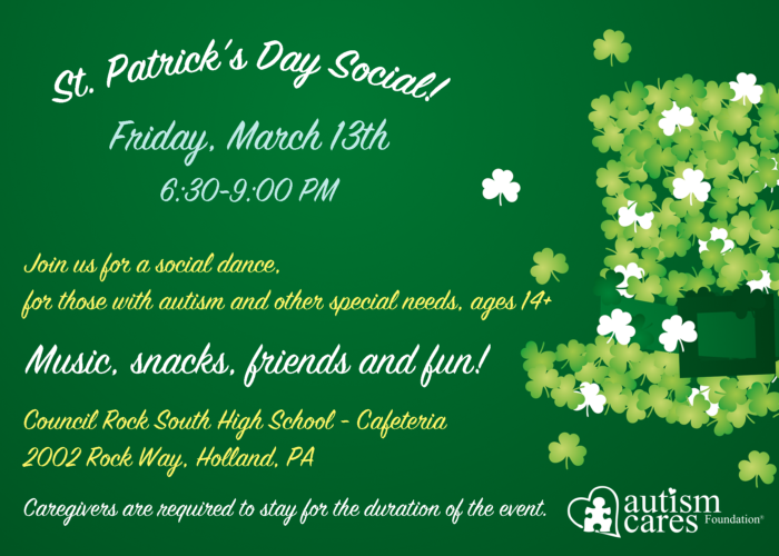 St. Patrick's Day Social! @ Council Rock High School South-Cafeteria